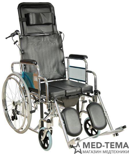 Кресло-коляска инвалидная FS204BJG (MK-C010-46) с ручным тормозом