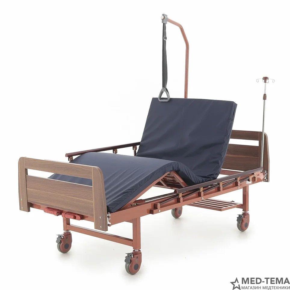 Медицинская кровать E-8 (ММ-18Н) в комплекте с матрасом